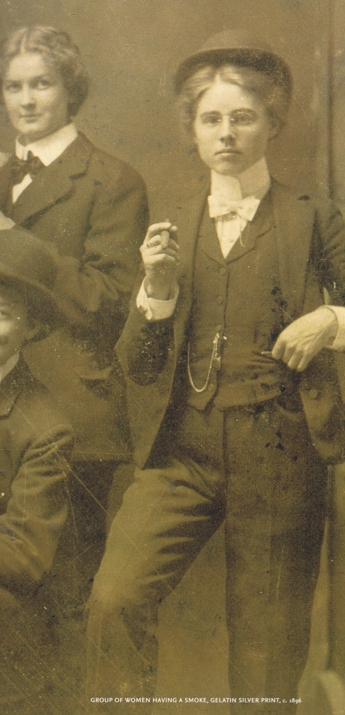 Victorian woman smoking
