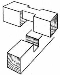 Cross Halving Joint with Housed Corners